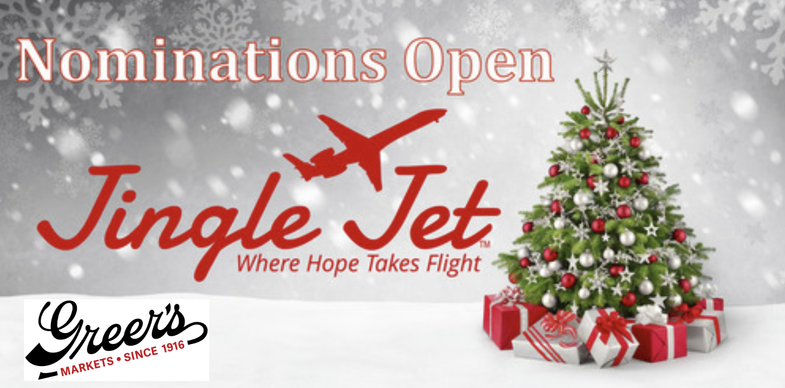 Jingle Jet sponsored locally by Greer's Markets!