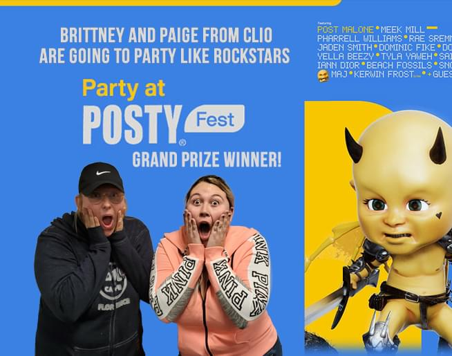 Brittney from Clio is going to Posty Fest 2019!