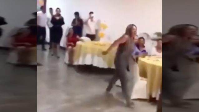 Video Captures Crazy Ex-Girlfriend Crashing Wedding and Causes Drama