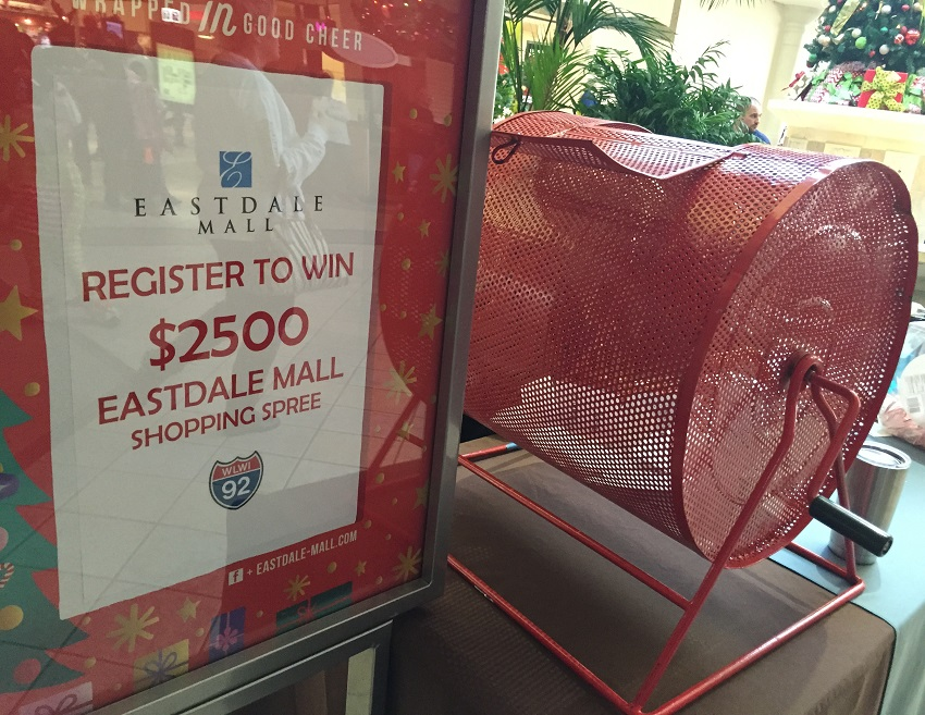$2,500 Christmas Shopping Spree at Eastdale Mall