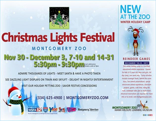 Montgomery Zoo Christmas Lights 2021