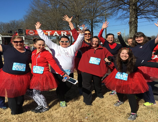 Montgomery Red Dress Dash with the American Heart Association