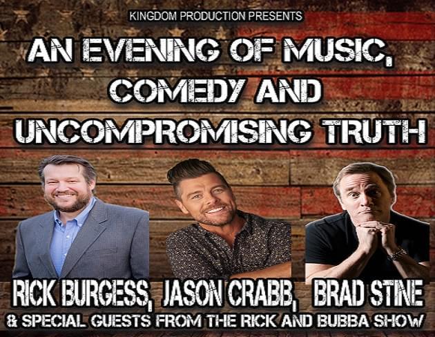 Rick Burgess, Jason Crabb and Brad Stine Headline Show at Davis Theatre
