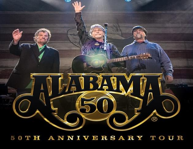 Alabama 50th Anniversary Tour Headed to The Wharf Amphitheater