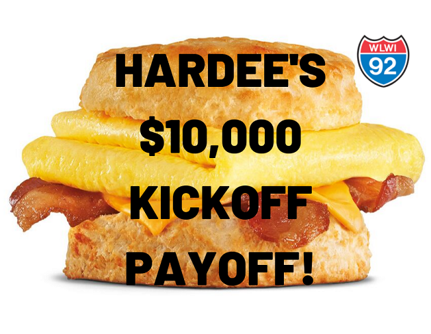 Play the Bowl Game Edition of the Hardee's $10,000 Kickoff Payoff