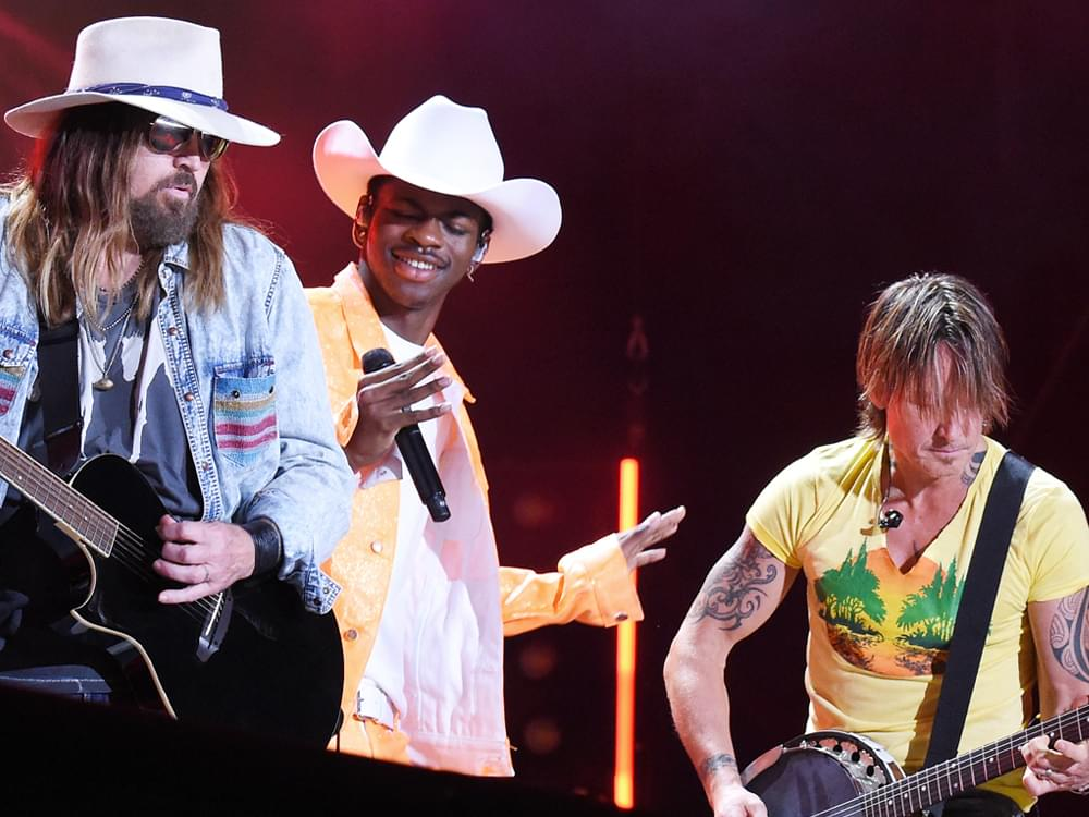 "Watch Lil Nas X, Billy Ray Cyrus and Keith Urban Surprise Fans by Joining Forces on ""Old Town Road"" at CMA Fest"