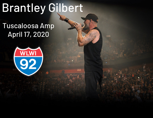 Brantley Gilbert at Tuscaloosa Amphitheater