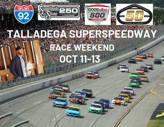 Talladega Superspeedway Fall Race Weekend Info + How to Win Tickets