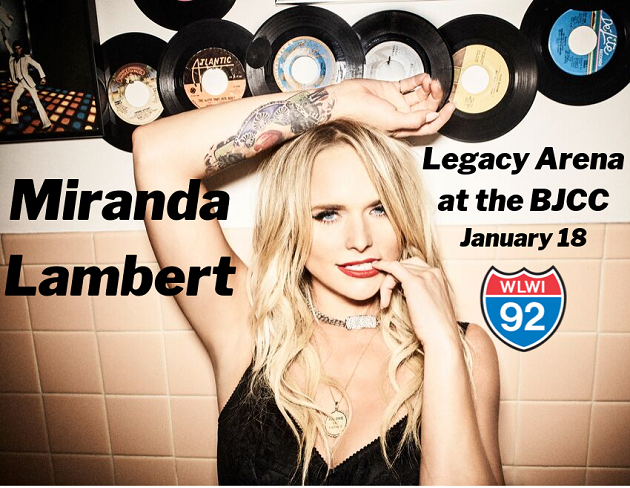 Win Miranda Lambert Concert Tickets and Backstage Passes from I-92 WLWI