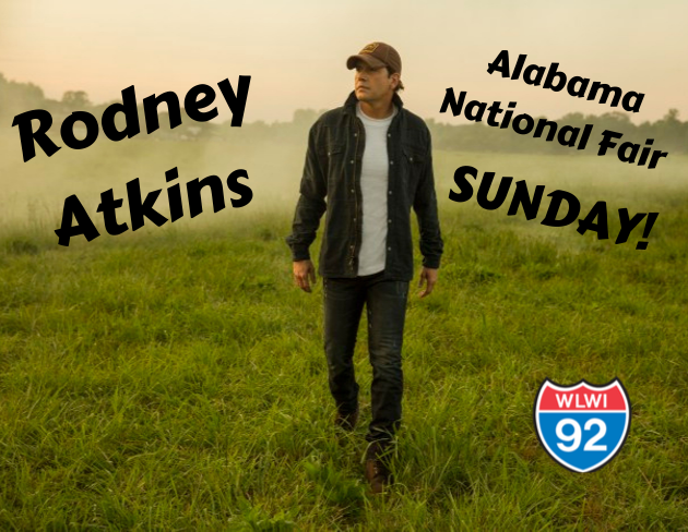 Win Backstage Passes to Meet Rodney Atkins at the Alabama National Fair Concert
