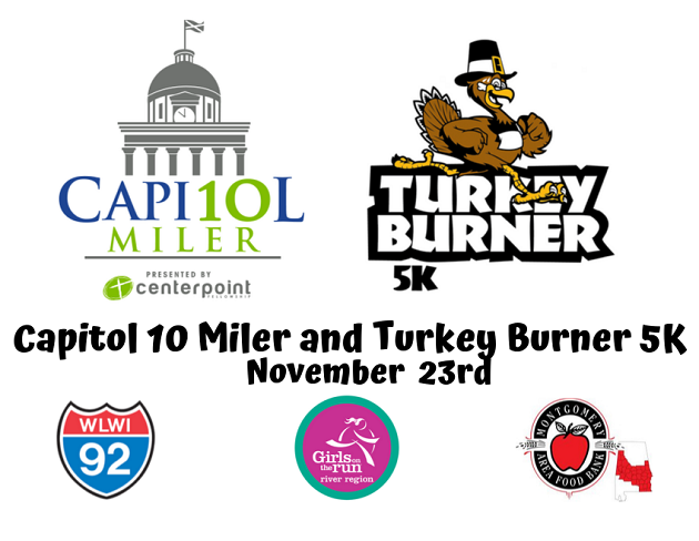 Montgomery's 2019 Capitol 10 Miler and Turkey Burner 5K Race Information