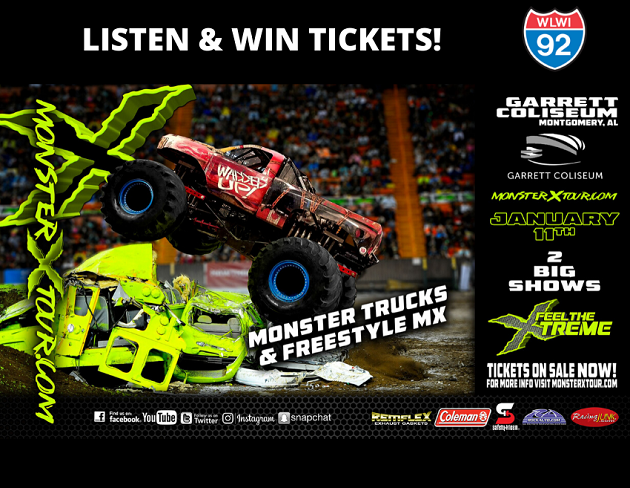 Monster X Tour Invades Montgomery's Garrett Coliseum Saturday