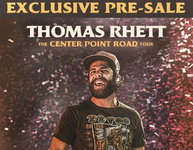 Exclusive: Pre-Sale Code for Thomas Rhett Concert Tickets