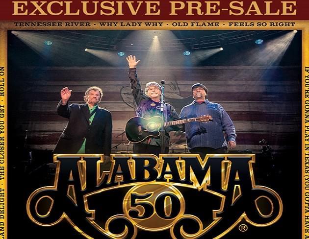 Exclusive: Pre-Sale Code for Alabama Concert Tickets