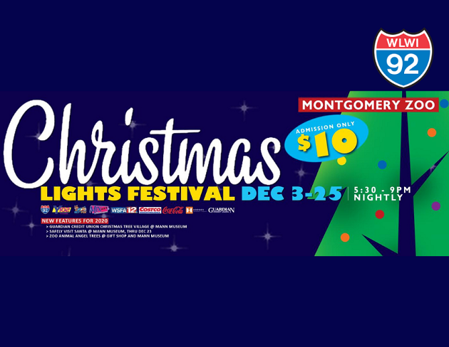 Christmas Lights Festival 2020 at Montgomery Zoo
