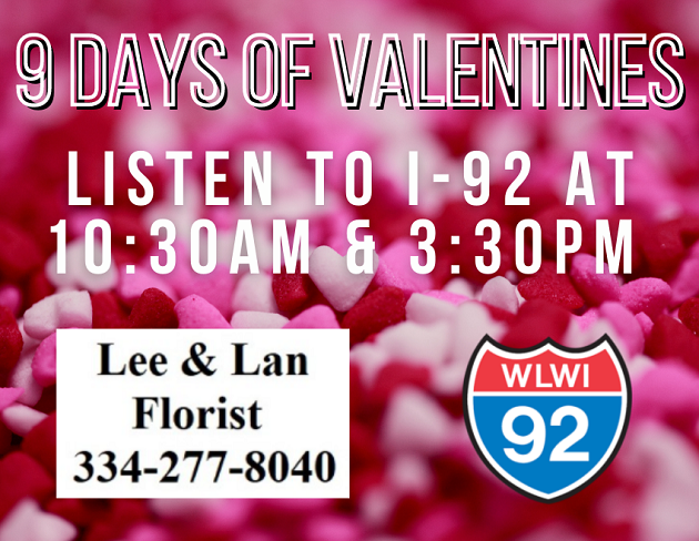 I-92 With the 9 Days of Valentines From Lee & Lan Florist