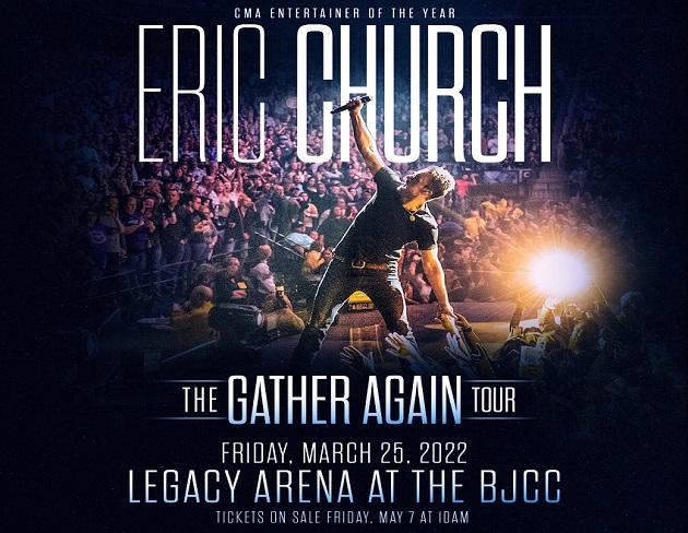 "Eric Church ""The Gather Again Tour"" Coming to Birmingham"