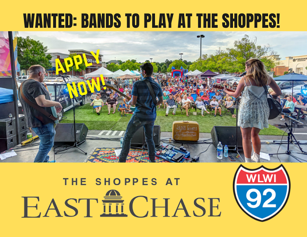 Wanted: Bands to Play at The Shoppes This Summer