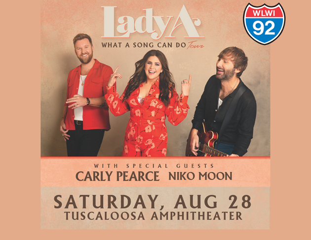 Lady A Set to Play Tuscaloosa Amphitheater This Summer