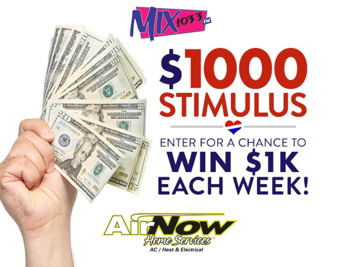 $1000 Stimulus! Sponsored by Air Now