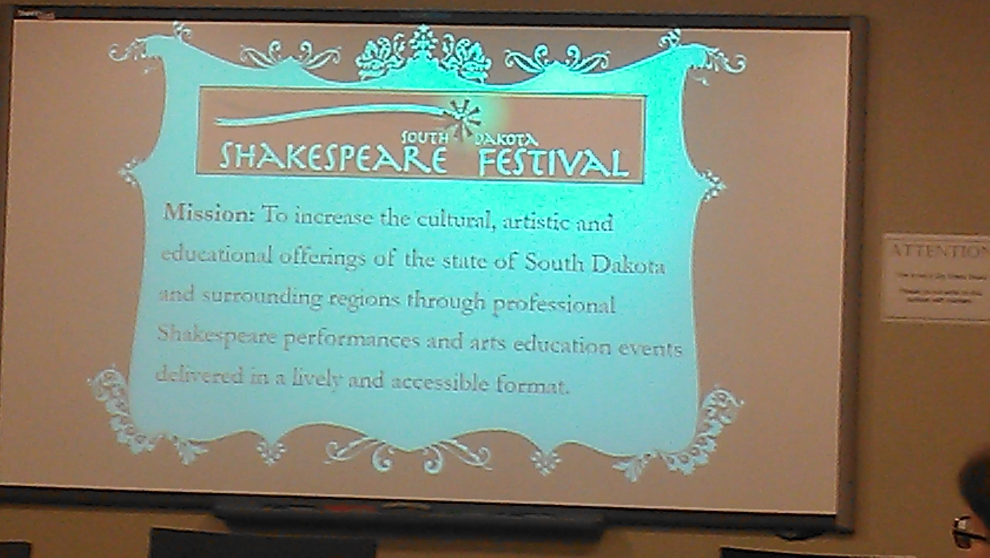 South Dakota Shakespeare Festival Auditions