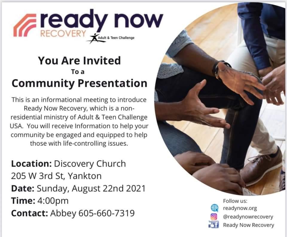 Community Presentation On Addiction Coming To Yankton