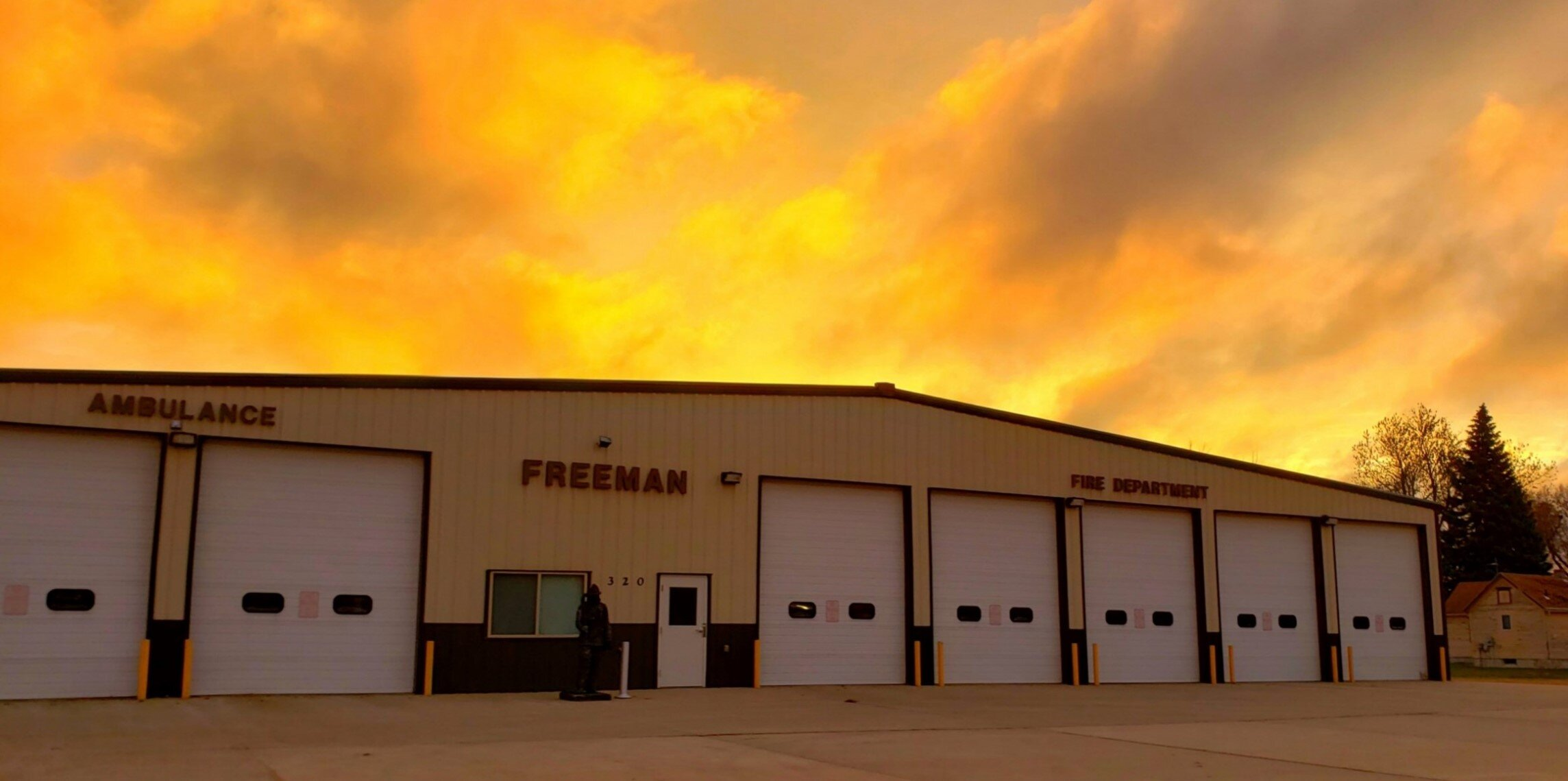 Freeman Firefighters Battled Structure Fire Wednesday