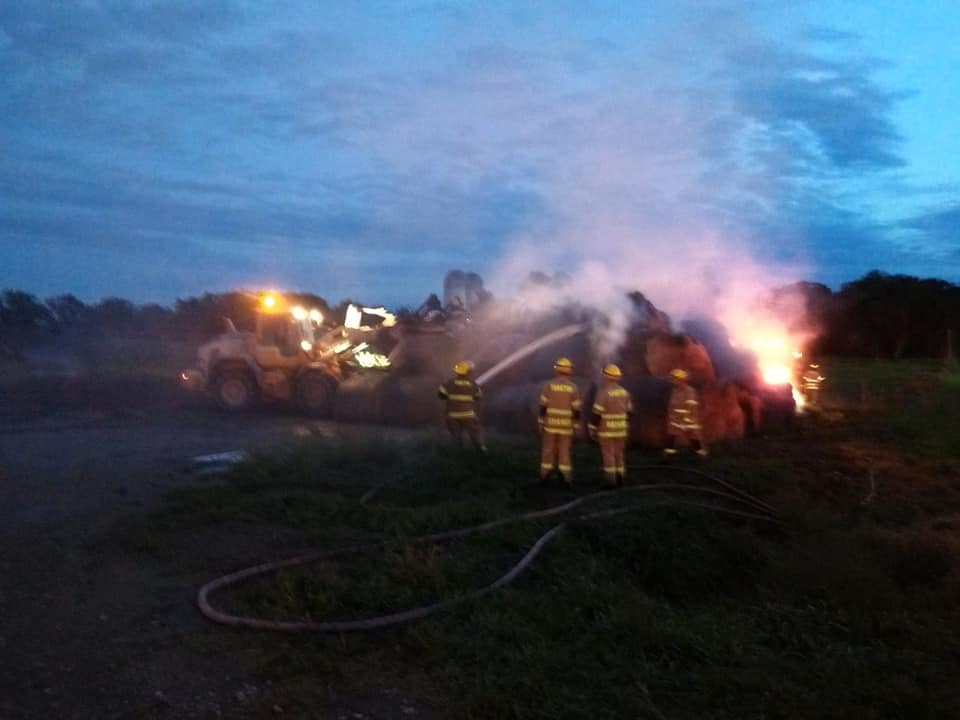 Lightning Sparks Hay Fire West Of Yankton
