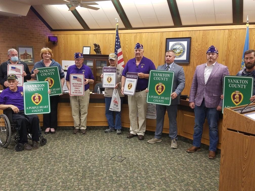 Yankton County Declared Purple Heart County