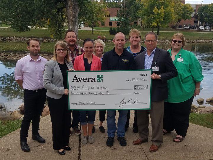 Avera Donates Funds For Westside Park Revitalization