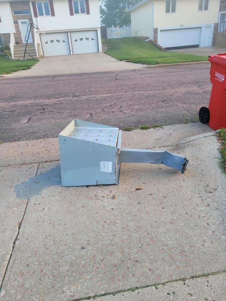 Yankton Police Investigating Mailbox Vandalism