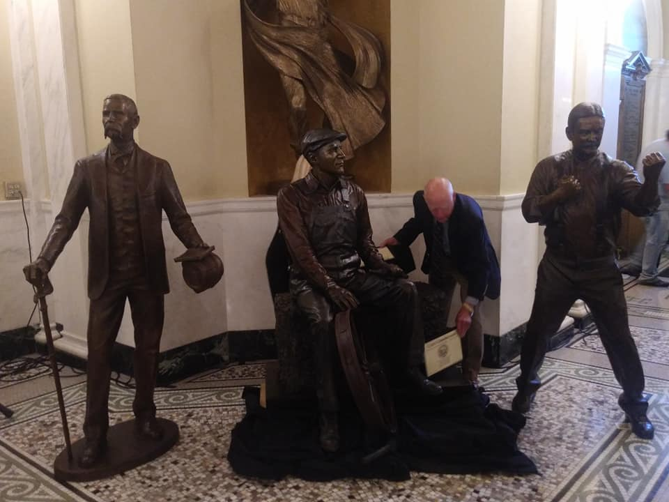 Trail Of Governors Inducts Statues Of Former Leaders Sheldon, Crawford And Gunderson