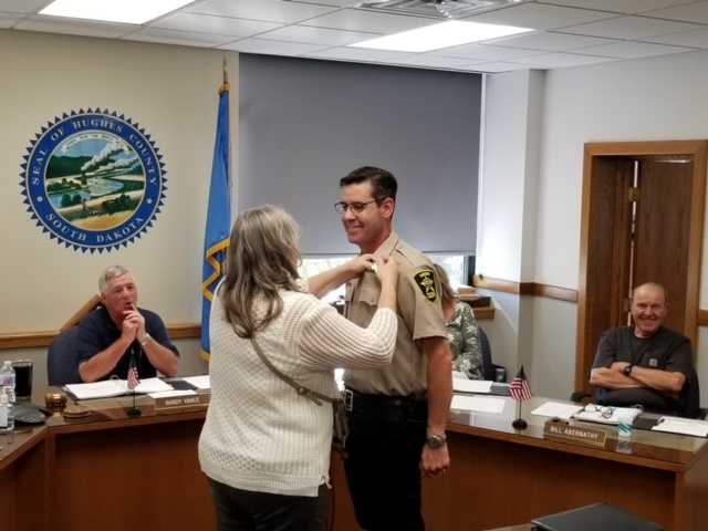 Callahan Sworn In, Takes Over As Hughes County Sheriff