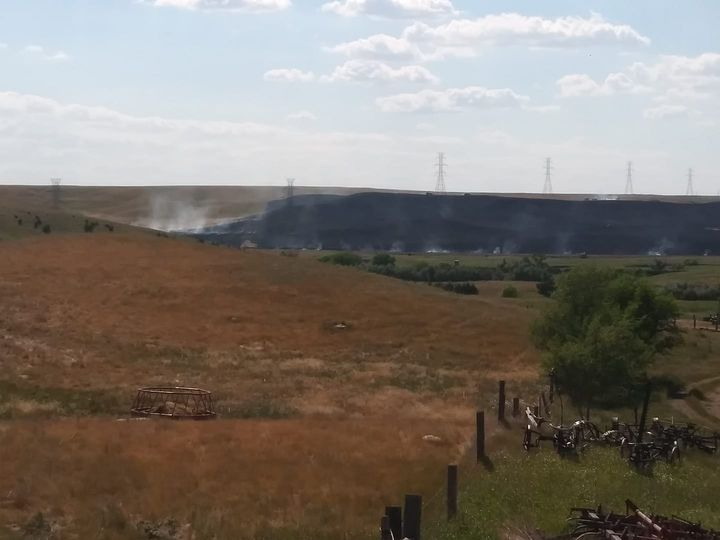 Multiple Fire Departments Aid Blunt Firefighters With Thursday Grassfire