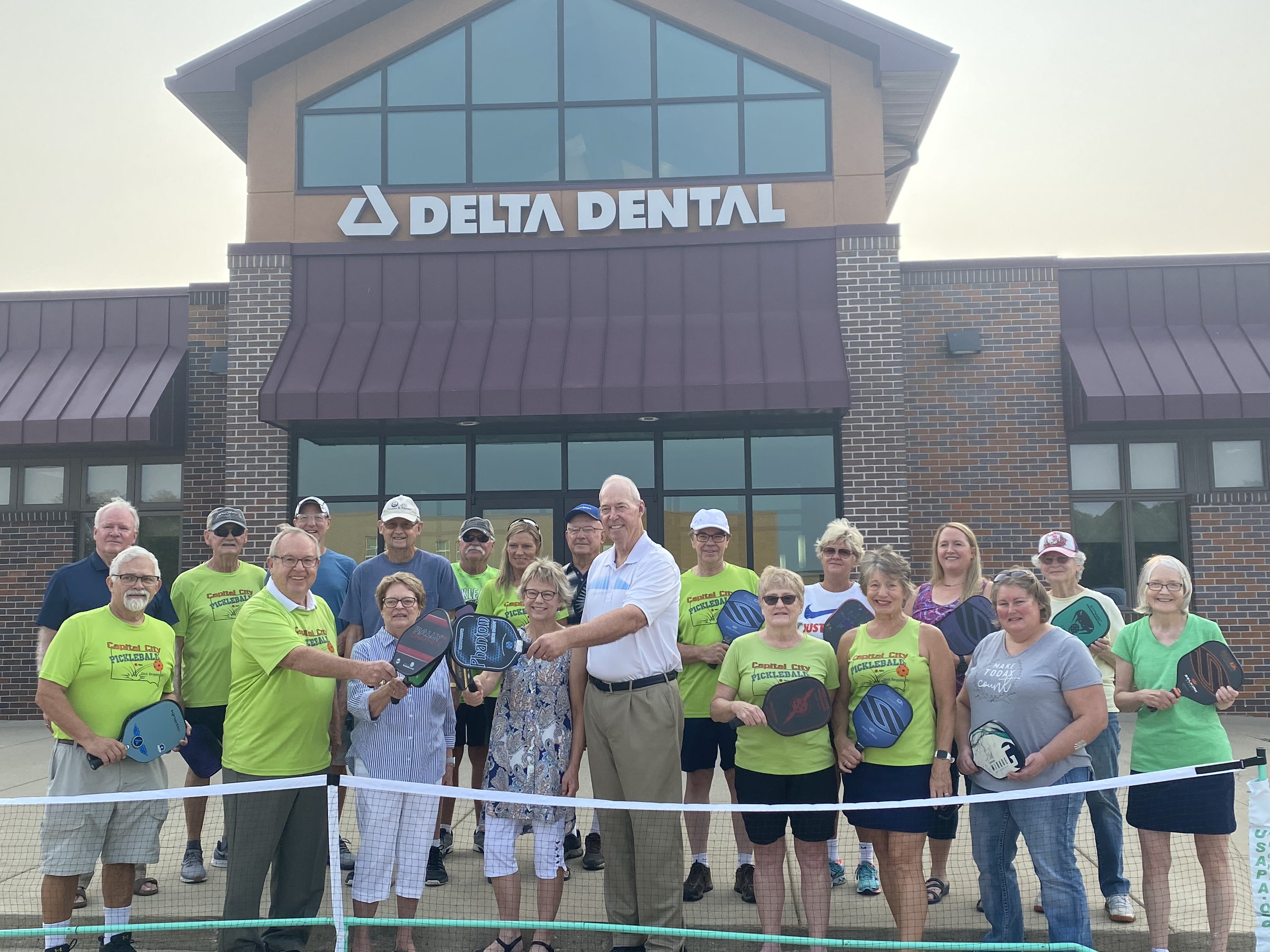 Pickleball Gets Donation for Courts