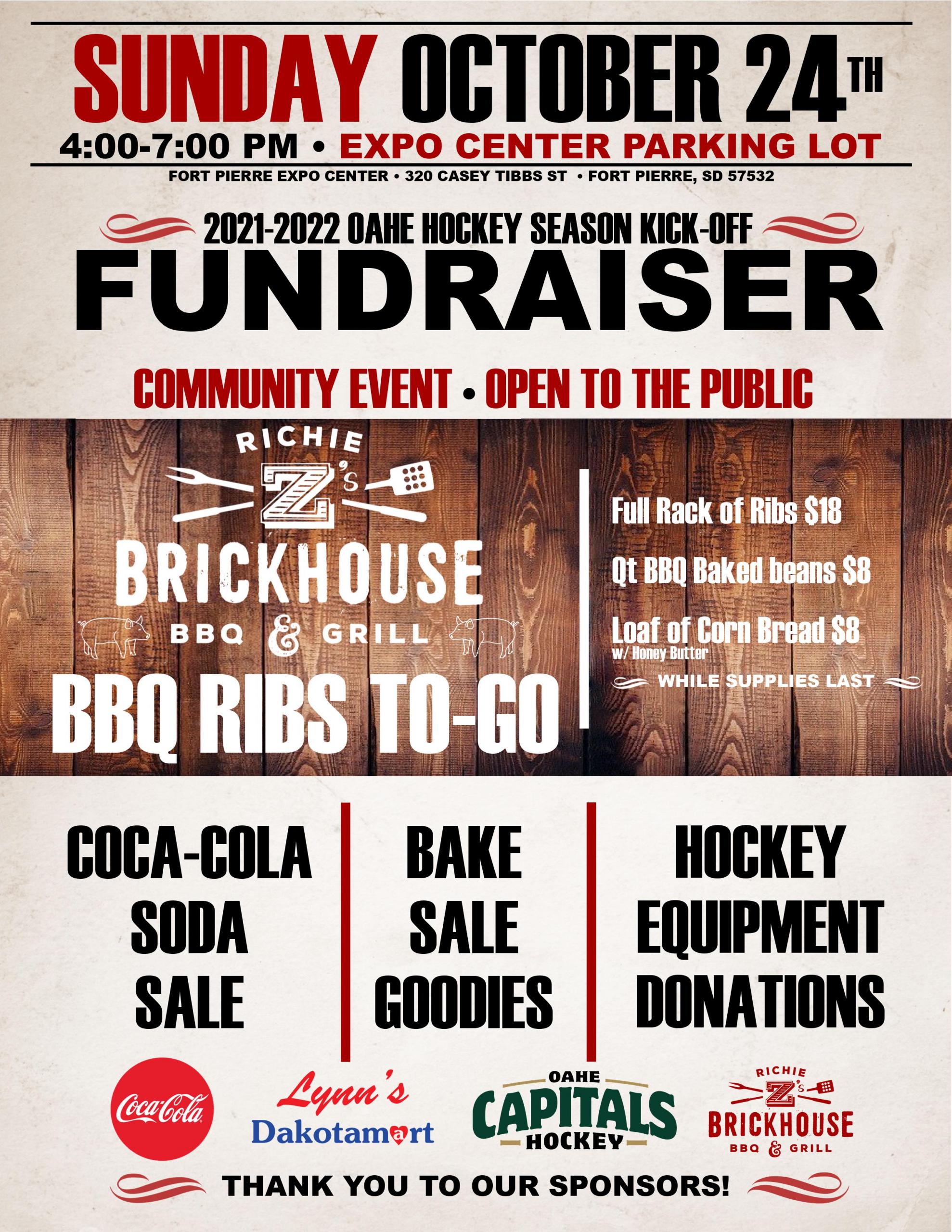 Oahe Hockey Hosting Fundraiser this Weekend