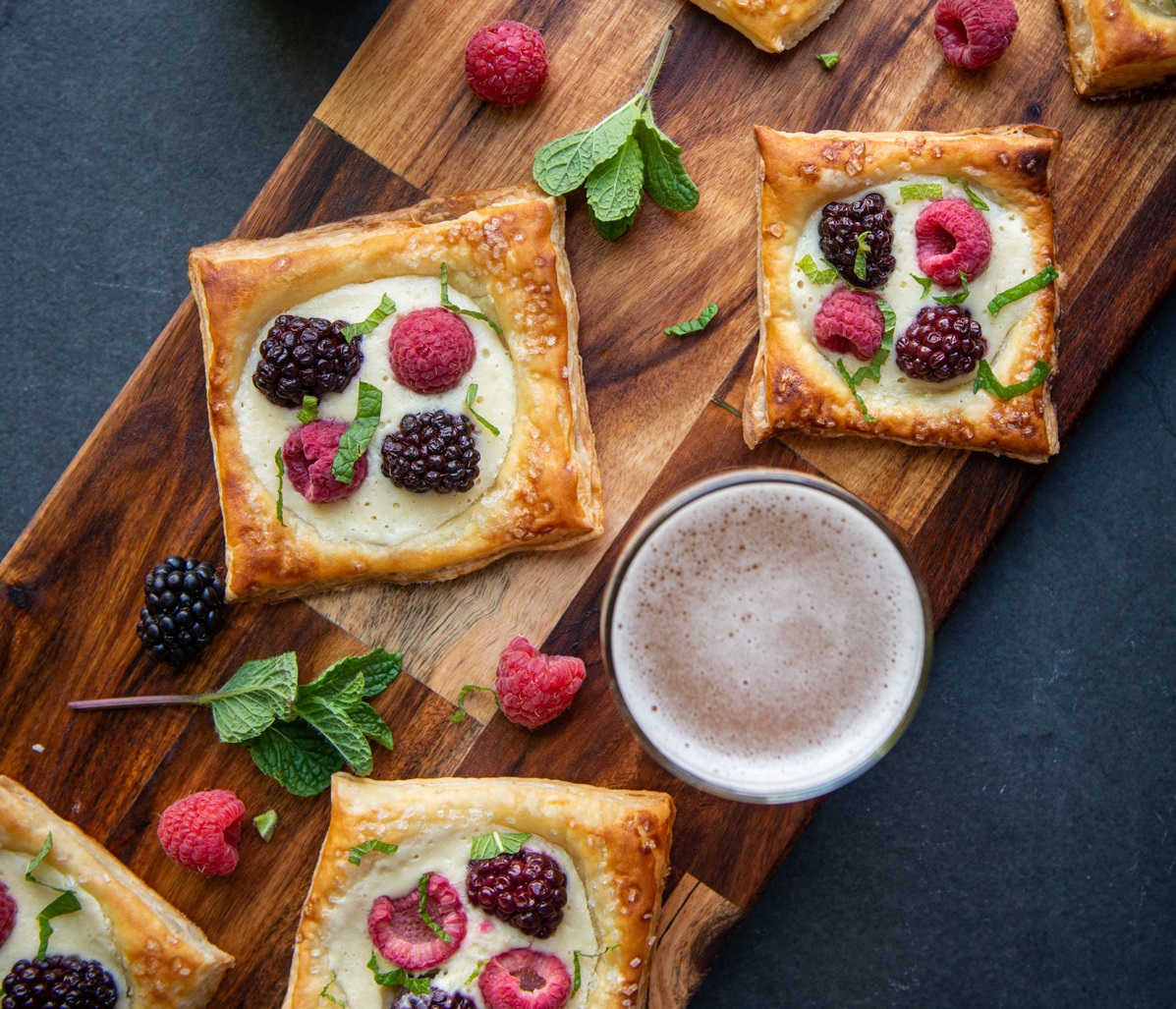 Mixed Berry Beer Breakfast Pastries