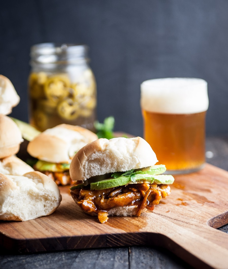 BBQ Beer Tex Mex Chicken Sliders