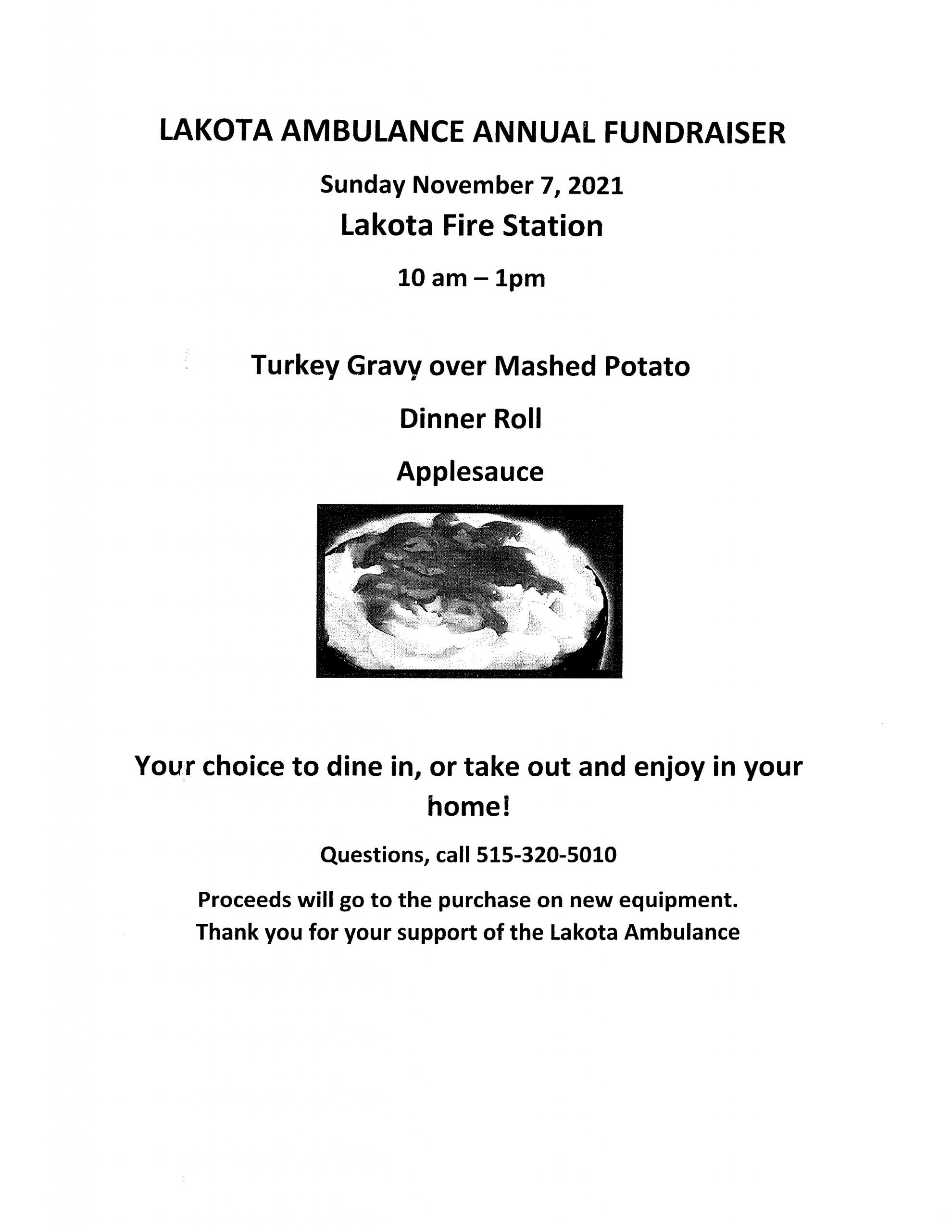 Lakota Ambulance Annual Fundraiser