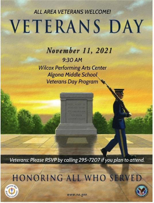 Algona Middle School Veterans Day Program