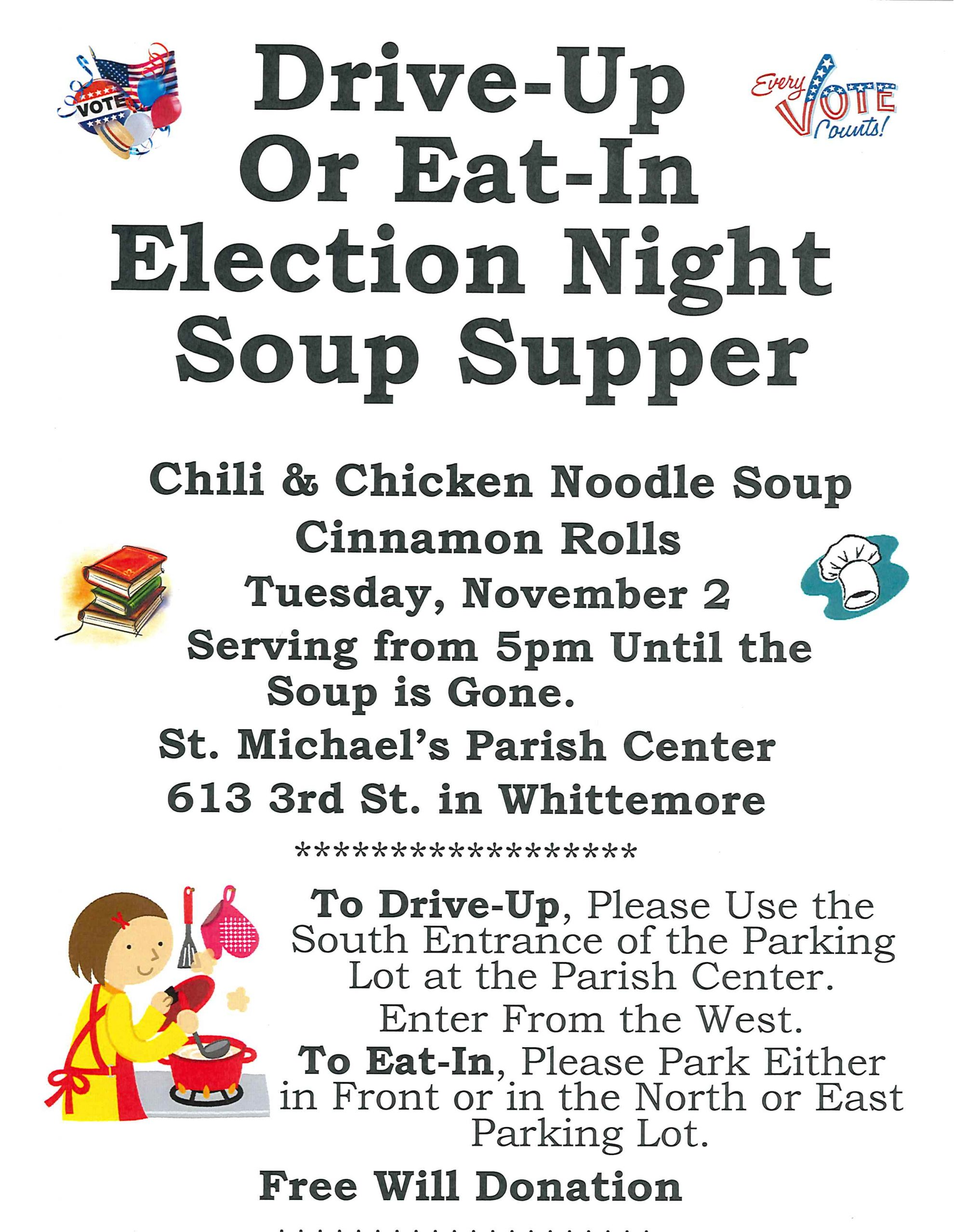 Whittemore Public Library Election Night Soup Supper