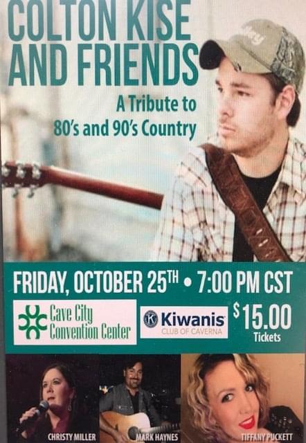 Colton Kise performs for Caverna Kiwanis fundraiser
