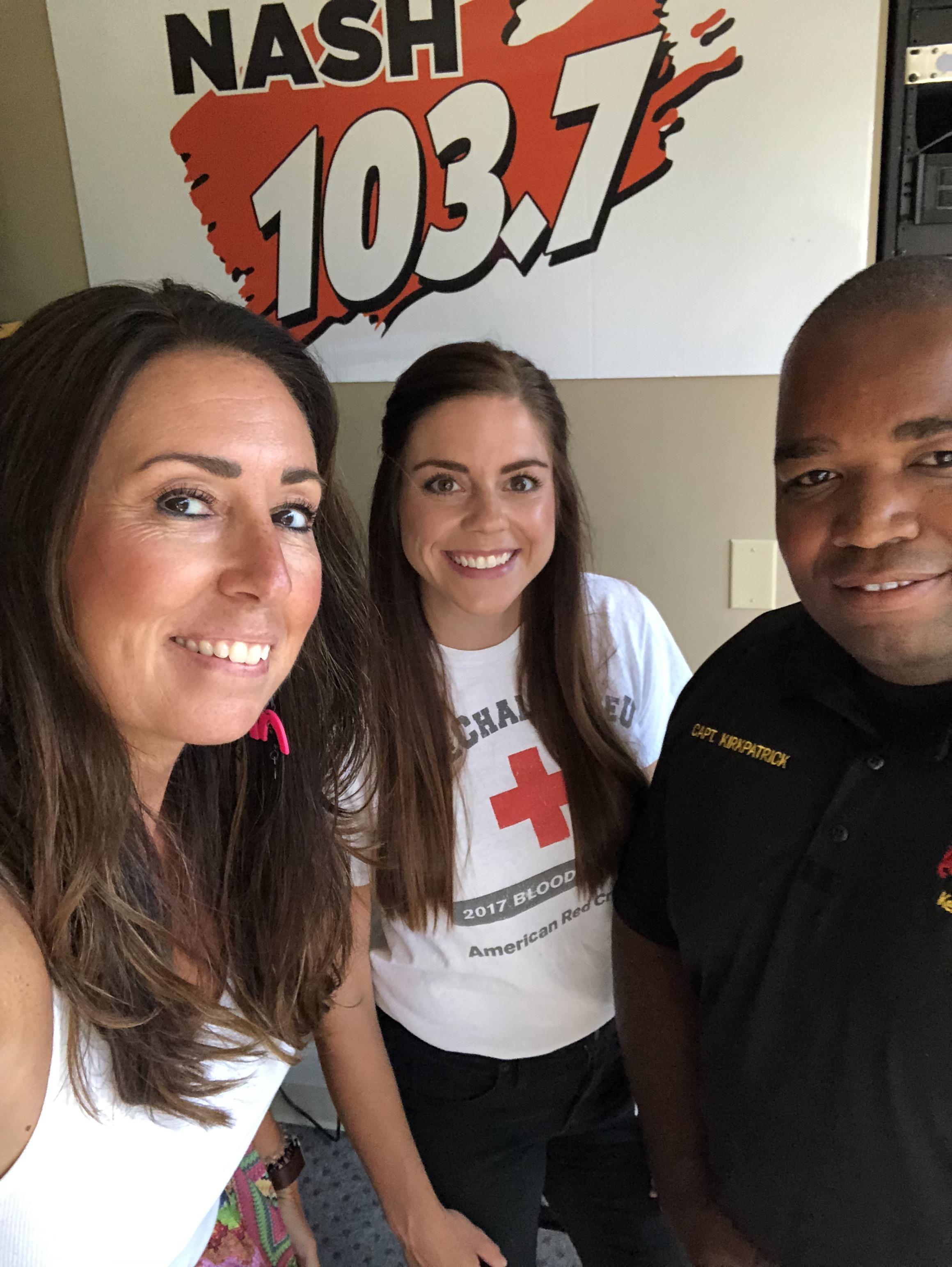 Kellie talks with Brook & Captain Kirkpatrick about Guns & Hoses Blood Drive