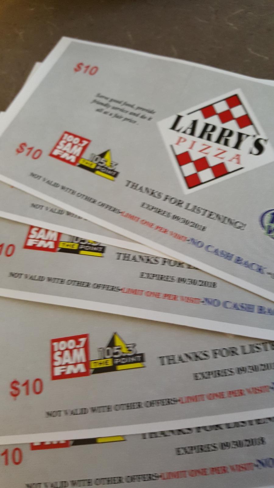 Larry's Pizza Passes