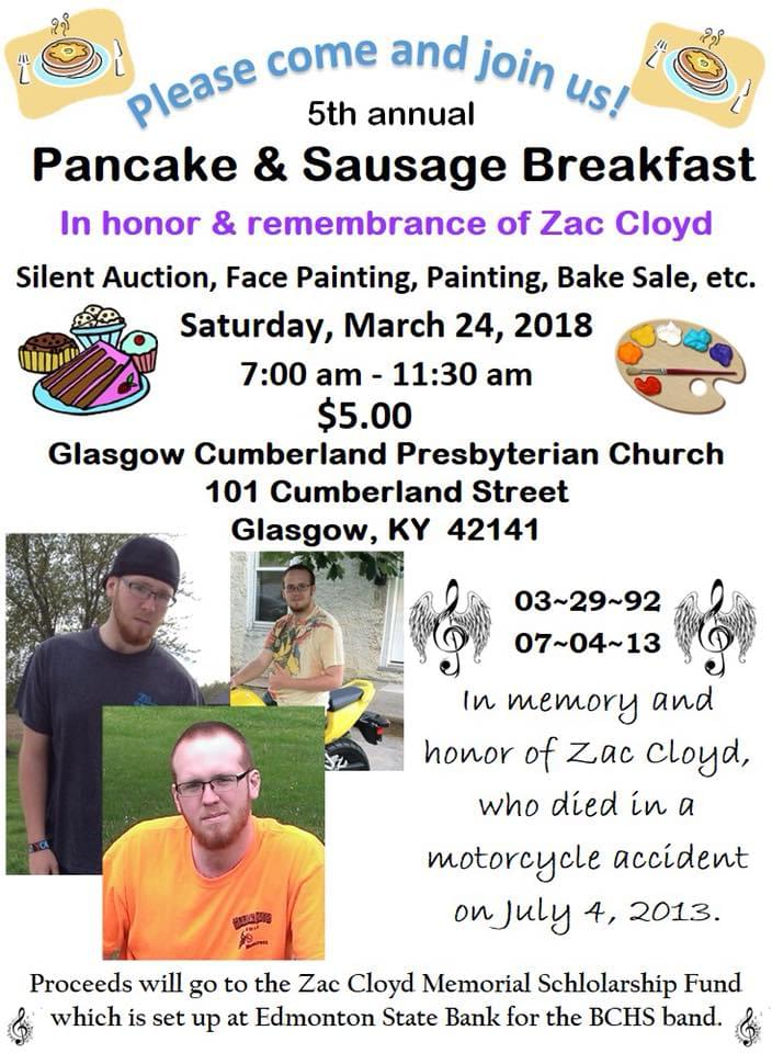 INTERVIEW: Learn about the Zac Cloyd breakfast benefit for BCHS Band