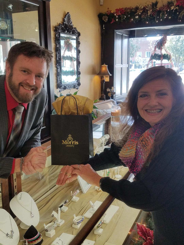 Chris Allen reads Trish Jaggers' winning letter