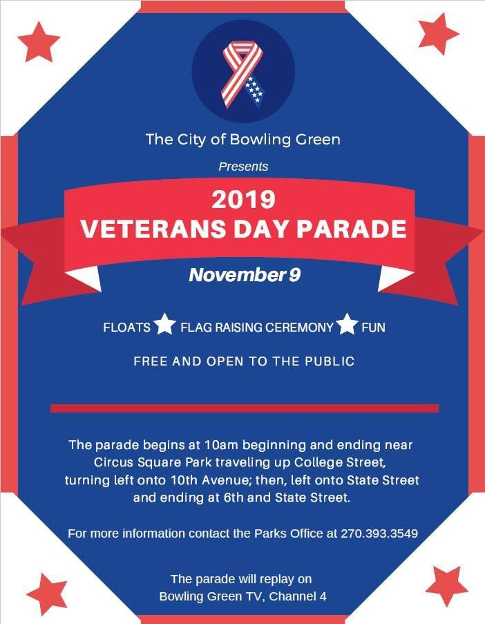 Bowling Green Veterans Day Parade is Saturday