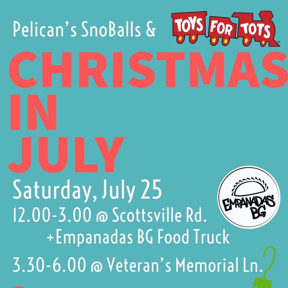 Toys for Tots collects donations as part of Christmas in July