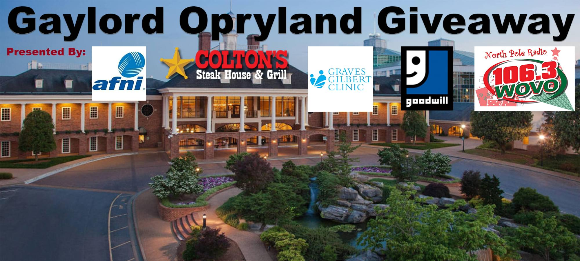 Gaylord Opryland Giveaway