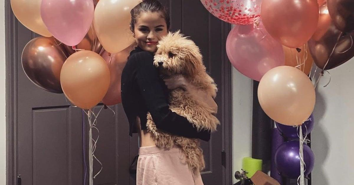 Selena Gomez Celebrates Launch Of Rare Beauty Makeup Collection As She Poses With Cute Pup Daisy